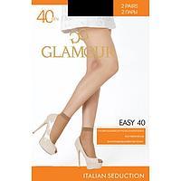 Носки женские (2 пары) GLAMOUR Easy 40 ден, цвет чёрный (nero)