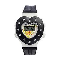 Часы наручные детские 'Сердечко', электронные, с силиконовым ремешком, микс