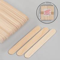Шпатели для депиляции, деревянные, 11,4 x 1,4 см, 50 шт
