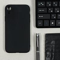 Чехол LuazON, для телефона iPhone XR, TPU, черный