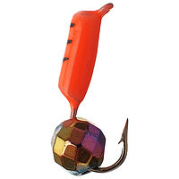 Мормышка столбик 2 'Хамелеон', цвет красный (комплект из 5 шт.)