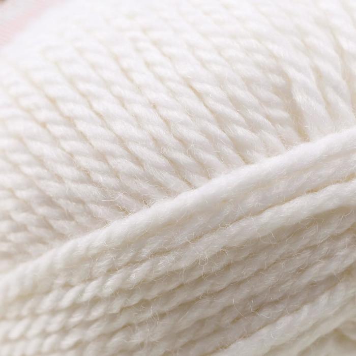 Пряжа 'Мериносовая' 50меринос.шерсть, 50 акрил 200м/100гр(01-Белый) - фото 3