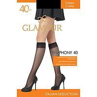 Гольфы GLAMOUR Symphony 40 ден (2 пары), цвет чёрный (nero)