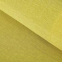 Бумага гофрированная, 579 'Жёлтая горчица', 0,5 х 2,5 м