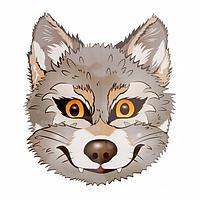 Термонаклейка 'Волк' 16*20,3 см, набор 10 штук