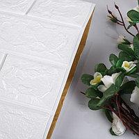 Самоклеящаяся ПВХ панель 'Белый кирпич' 78*70 см