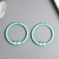 Кольца для альбомов 'Айрис' 2,5 см, 2 шт, мята