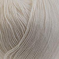 Пряжа 'Детский каприз трикотажный' 50меринос. шерсть, 50 фибра 400м/50гр (01 белый)