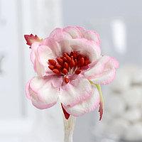 Цветы магнолии (набор 4 шт) бело-розовые (комплект из 3 шт.)