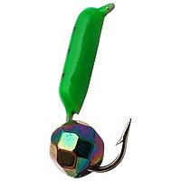 Мормышка столбик 1,5 'Хамелеон', цвет зелёный (комплект из 5 шт.)