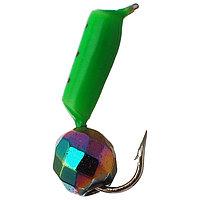 Мормышка столбик 2 'Хамелеон', цвет зелёный (комплект из 5 шт.)