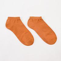 Носки женские укороченные Нжу565-08 цвет кирпичный, р-р 23-25 (36-40)