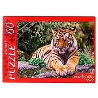Пазлы 60 элементов 'Задумчивый тигр'