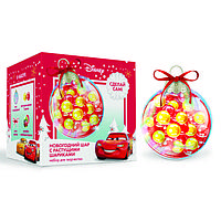 Набор для творчества 'Новогодний шар с растущими шариками', Тачки