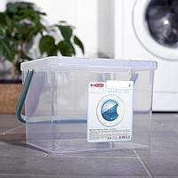 Контейнер для стирального порошка, 3,5 л, цвет прозрачный (комплект из 8 шт.)