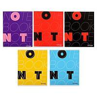 Тетрадь 48 листов в клетку 'Буквы Ok/Not', обложка мелованный картон, блок офсет, МИКС (комплект из 5 шт.)