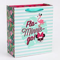 Пакет ламинат вертикальный 'Fla-Minnie-go', Минни Маус, 23х27х11,5 см