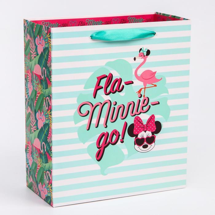Пакет ламинат вертикальный 'Fla-Minnie-go', Минни Маус, 23х27х11,5 см - фото 1