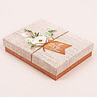 Коробочка подарочная 'Тебе на радость', 10,5 х 14 х 3,5 см