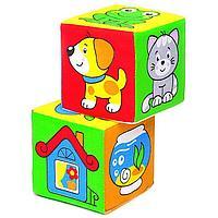 Развивающая игрушка-кубики 'Чей домик'