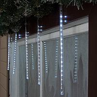 Светодиодная сосулька уличная 'Тающая' 0,3 м, d2 см, вилка, LED-18-220V, нить белая, свечение белое
