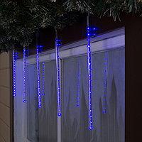 Светодиодная сосулька уличная 'Тающая' 0,3 м, d2 см, вилка, LED-18-220V, нить белая, свечение синее