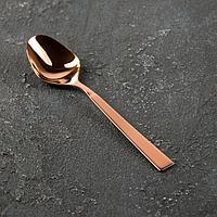 Ложка чайная 'Астра', h13,8 см, толщина 2,5 мм, цвет красное золото (комплект из 6 шт.)