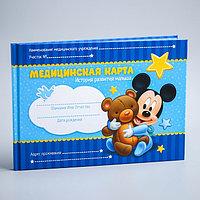 Медицинская карта 'История развития ребёнка', Микки Маус, 40 листов