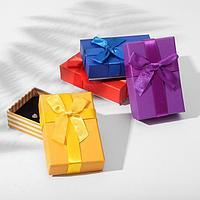 Коробочка подарочная под набор 'Яркие полоски' 5x8 (размер полезной части 4,7х7,7см), цвет МИКС (комплект из 6