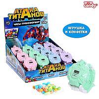 Игрушка с конфетками 'Часы-трансформер Атака титанов', МИКС