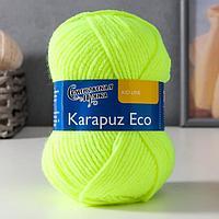 Пряжа Karapuz Eco (КарапузЭко) 90 акрил, 10 капрон 125м/50гр ярк.лайм (5234)