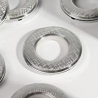 Люверсы для штор 'Клетка', d 4/7,9 см, 10 шт, цвет серебряный