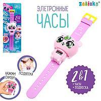 Электронные часы 'Кокетка', цвет розовый
