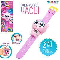 Электронные часы 'Розочка', цвет розовый