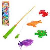 Игра 'Весёлая рыбалка' удочка, 4 рыбки