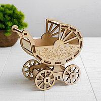 Кукольная коляска-конструктор 'Коляска для ребёнка 10 см Barbie'
