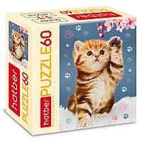 Пазл 60 элементов 'Котёнок с цветком'