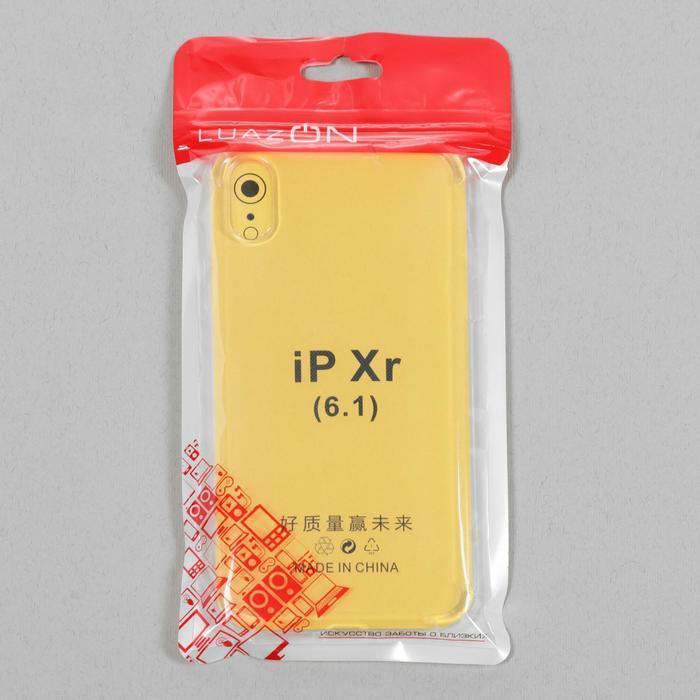 Чехол LuazON, для телефона iPhone XR, силиконовый, тонкий, противоударный - фото 4