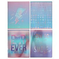 Тетрадь 48 листов в клетку 'Lovely dream', обложка мелованный картон, глянцевая ламинация, блок офсет, МИКС