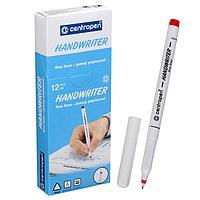 Ручка капиллярная, 0,5 мм, Centropen 'Handwriter' 2551, красная, картонная упаковка (комплект из 12 шт.)