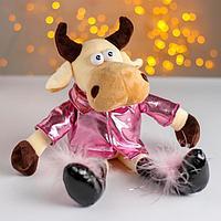Мягкая игрушка 'Коровка в розовой куртке'