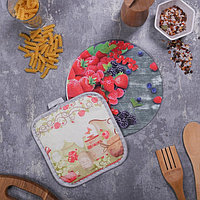Многофункциональная кухонная доска + прихватка'Приятного аппетита', 20 см