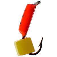 Мормышка 'Столбик' 1,5 с 'сырным' кубиком, цвет красный, 486 (комплект из 5 шт.)