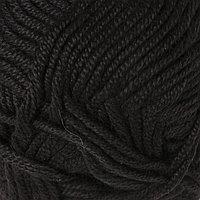 Пряжа 'Saten 50' 100 микроакрил 115м/50гр (217 чёрный) (комплект из 5 шт.)