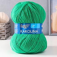 Пряжа Karolina (Каролина) 100 акрил 438м/100гр ярк.зел (47) (комплект из 3 шт.)