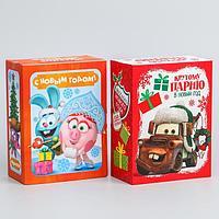 Коробка подарочная складная 'С новым годом!', Disney, 14,8 х 20 х 8 см (комплект из 2 шт.)