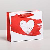 Пакет подарочный ламинированный горизонтальный Love, S 15 x 12 x 5,5 см (комплект из 6 шт.)