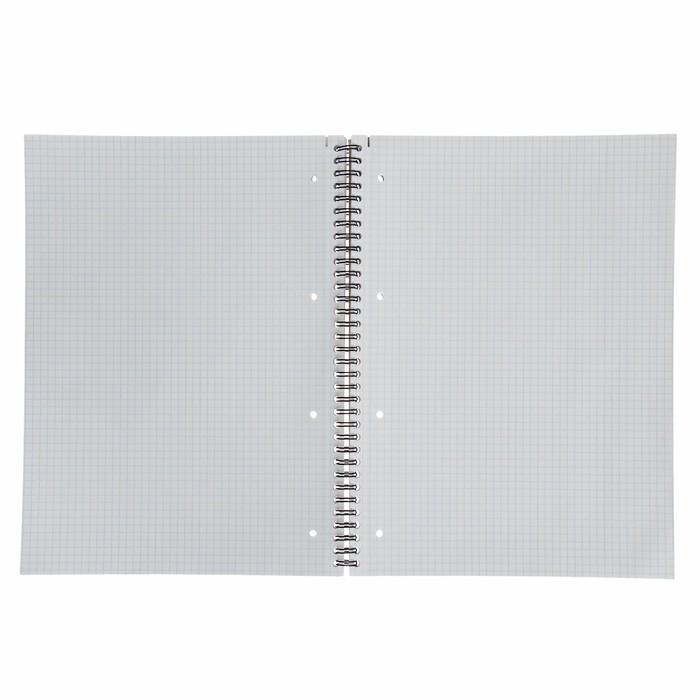Тетрадь А4, 80 листов в клетку, на гребне Duotone Next, обложка мелованный картон, блок офсет, МИКС - фото 2