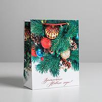 Пакет подарочный ламинированный вертикальный 'Волшебного Нового Года', MS 18 x 23 x 8 см