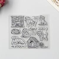 Штамп для творчества силикон 'Кошки и собаки' 15х17 см